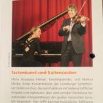 Klavier und Geige München. Duo. Maria Anastasia und Menke